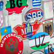 Country stickers — Stock Photo