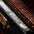 Stock Photo: Old Yamahguitar detail