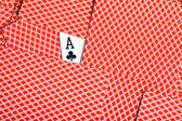 Ace of clubs — Stock Photo