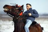 冬の乗馬 — ストック写真