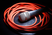 Mikrofon i whire — Zdjęcie stockowe