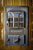 Vintage stove door — Stock Photo