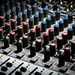 Music mixer desk — Stock Photo #21012213