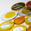 Stock Photo: Euro chocolate coins