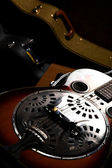Vintage guitar in case — Stock Photo