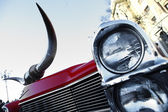 Vintage headlight — Stock Photo