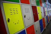Colored Lockers — Stock Photo