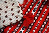 Romanian weaved cloth — Stock Photo