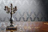 Vintage candlestick — Stock Photo