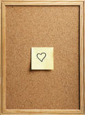 Heart-shaped note — Stock Photo