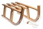 Wooden sledge — Stock Photo