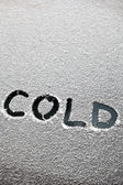 Cold text — Stockfoto