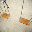 Two swings — Stock Photo
