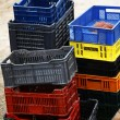 Stock Photo: Empty crates