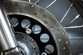 Motorcycle disk brake — Stock Photo