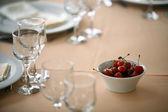 Dinner in a restaurant — Stock Photo