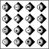 Set icons Black — Stock Vector