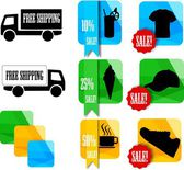Iconos de la tienda — Vector de stock