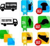 Shop icons — Stock Vector