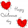 Royalty-Free Stock Obraz wektorowy: Valentine\'s day card