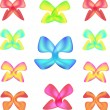 Cтоковый вектор: Set of gift bows with ribbons. Vector illustration.