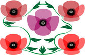 Amapolas abstractas — Vector de stock