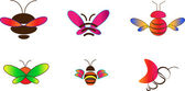 Painted set of insects — Stock Vector