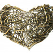 Stock Photo: Metal wire heart