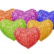 Multicolored hearts — Stockfoto