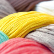 Photo: Multicolor threads texture