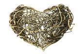 Metalen draad hart — Stockfoto