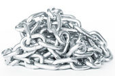 Heap of metal chain — Stock Photo