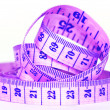 Measuring purple tape — Foto Stock