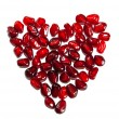 Heart shaped pomegranate — Stockfoto