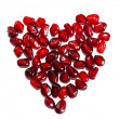 Heart shaped pomegranate — ストック写真