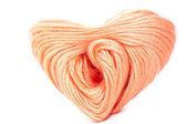 розовый клубок сердце — Стоковое фото