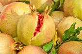 Yellow rind pomegranate — Stock Photo