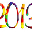 Stock Photo: Welcome new 2013 year