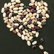Heart shape from beans — Stock Photo