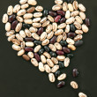 Foto de Stock  : Heart shape from beans