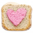 Lovely pink bread slice — Stock Photo