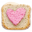 Foto de Stock  : Lovely pink bread slice