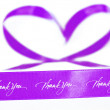 Pink ribbon of gratitude and love — Stock Photo