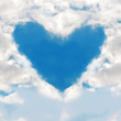 Stock Photo: Heart in sky