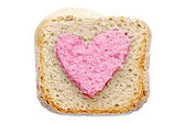 Lovely pink bread slice — Stock fotografie