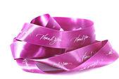 Pink ribbon of gratitude — Stock Photo