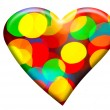 Bokeh forming heart shape — Stockfoto