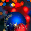 Red and Blue Christmas balls — Foto de Stock