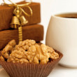 Nuts and coffee — Stockfoto