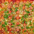 Cooked pizza texture — Stockfoto